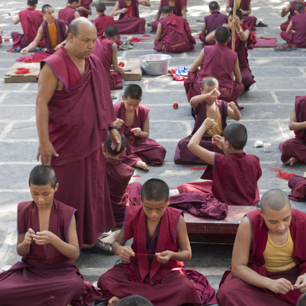 Daily life in the Gaden Jangtse Norling Monastery (Mundgod, Karnataka, India)